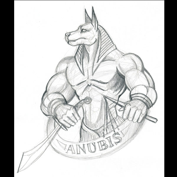 anubis sketches sketch coloring page